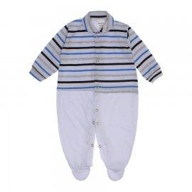 Imagem - Macacão Bebê Listrado Lapuko - 10257-macacao-listrado-azul