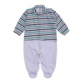 Imagem - Macacão Bebê Listrado Lapuko - 10257-macacao-listrado-verde