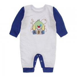 Imagem - Macacão de Bebê em Piquet Estampado Lapuko  - 10282-macacao-piquet-bco-royal