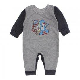Imagem - Macacão de Bebê em Piquet Estampado Lapuko  - 10282-macacao-piquet-cinza-grafite