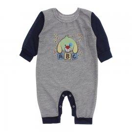 Imagem - Macacão de Bebê em Piquet Estampado Lapuko  - 10282-macacao-piquet-cinza-marinho