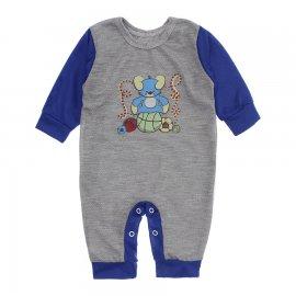 Imagem - Macacão de Bebê em Piquet Estampado Lapuko  - 10282-macacao-piquet-cinza-royal