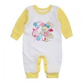 Imagem - Macacão Bebê Menina Lapuko - 10263-macacao-menina-branco-amarelo