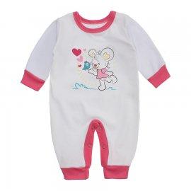 Imagem - Macacão Bebê Menina Lapuko - 10263-macacao-menina-branco-chiclet