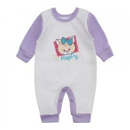 Imagem - Macacão Bebê Menina Lapuko - 10263-macacao-menina-branco-lilas