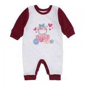 Imagem - Macacão Bebê Menina Lapuko - 10263-macacao-menina-branco-vinho