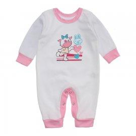 Imagem - Macacão Bebê Menina Lapuko - 10263-macacao-menina-branco-rosa