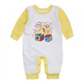 Imagem - Macacão Bebê Menino Lapuko - 10263-macacao-menino-branco-amarelo