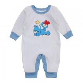 Imagem - Macacão Bebê Menino Lapuko - 10263-macacao-menino-branco-azul-be