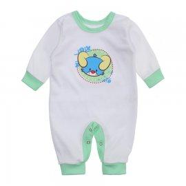 Imagem - Macacão Bebê Menino Lapuko - 10263-macacao-menino-branco-verde-b