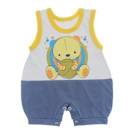 Imagem - Macacão Bebê Regata Lapuko - 10070-macacão-regata-azul-médio-bra