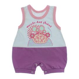 Imagem - Macacão Bebê Regata Lapuko - 10071-macacão-regata-lilas-branco