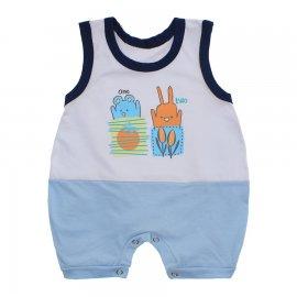 Imagem - Macacão Bebê Regata Lapuko - 10070-macacao-regata-one-two-azul-b