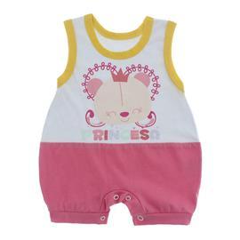 Imagem - Macacão Bebê Regata Lapuko - 10071-macacão-regata-rosa-branco