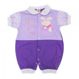 Imagem - Macacão de Bebê Curto de Verão - 6134-coelha-lilas