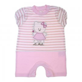 Imagem - Macacão Curto para Bebê Feminino - 6970-Macacão Curto ursinha