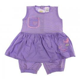 Imagem - Macacão de Bebê Curto Pi-A-MINI - 6044 - Lilás