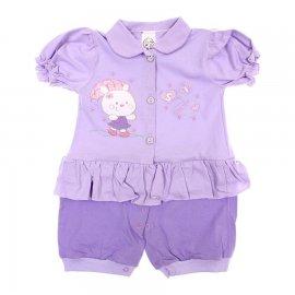 Imagem - Macacão de Bebê Curto Pi-A-MINI - 6044-lilas chuva