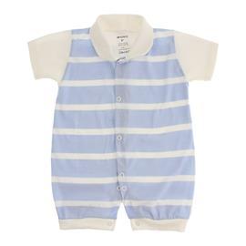 Imagem - Macacão Curto Listrado Lapuko - 8933-mac.curto-listrado-azul-bebe