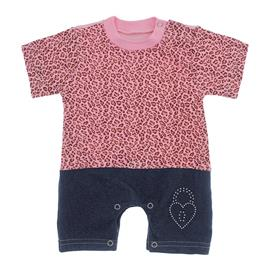 Imagem - Macacão de Bebê Menina Estampado - 9981-macacao-curto-sarja-oncinha-ro