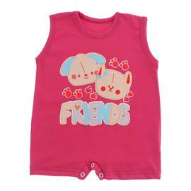 Imagem - Macacão Curto para Bebê Lapuko Menina - 10042-macacao-curto-menina-pink