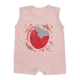 Imagem - Macacão Curto para Bebê Lapuko Menina - 10042-macacao-curto-menina-rosa