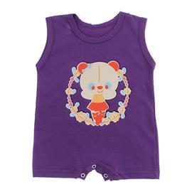 Imagem - Macacão Curto para Bebê Lapuko Menina - 10042-macacao-curto-menina-roxo