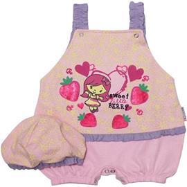 Roupas de Bebê Macacão Curto de Bebe Sweet Berry