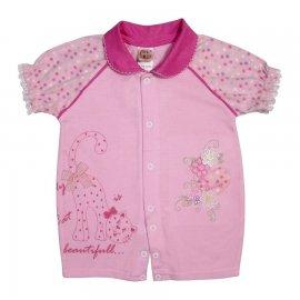 Imagem - Macacão de Bebê Curto Gatinha  - 4607-Macacão de Bebê Curto Gatinha