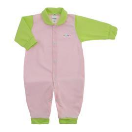 Imagem - Macacão de Bebê em Malha Lapuko  - 10014-macacao-lapuko-rosa-verde