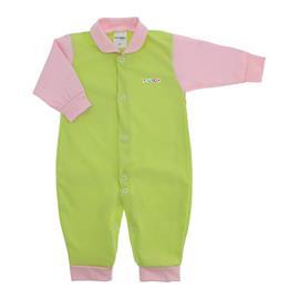 Imagem - Macacão de Bebê em Malha Lapuko  - 10014-macacao-lapuko-verde-rosa