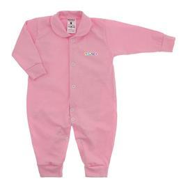 Imagem - Macacão de Bebê em Malha Lapuko  - 10.014-macacao-longo-lapuko-rosa