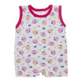 Imagem - Macacão de Bebê Curto Estampado Lapuko - 10048-macacao-estampado-corujas