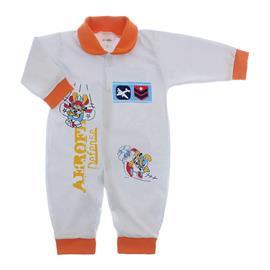 Imagem - Macacão de Bebê Lapuko - 10068-macacão-avião-laranja