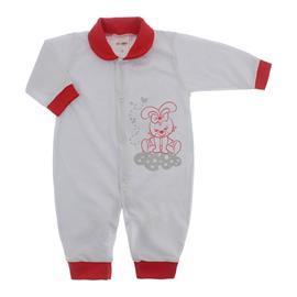 Imagem - Macacão de Bebê Lapuko - 10068-macacao-malha-vermelho-coelhi