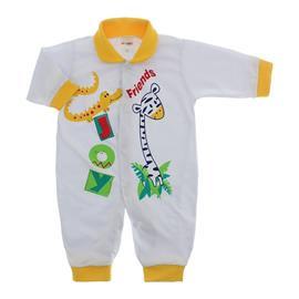 Imagem - Macacão de Bebê Lapuko - 10068-macacão-friends-amarelo