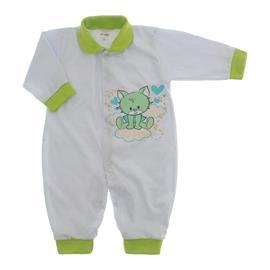 Imagem - Macacão de Bebê Lapuko - 10068-macacão-mna-gata-verde