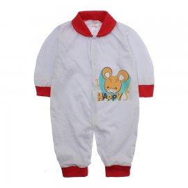 Imagem - Macacão de Bebê Lapuko - 10068-mac-malha-happy-vermelho