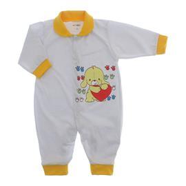Imagem - Macacão de Bebê Lapuko - 10068-macaca-mna-amarelo-dog