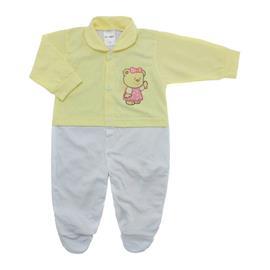 Imagem - Macacão de Bebê Menina Lapuko - 10079-macacao-estamp-mna-amarelo-bb