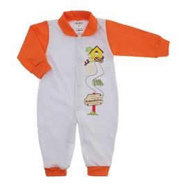 Imagem - Macacão de Bebê Menina Lapuko - 9950-macacao-lapuko-botao-laranja
