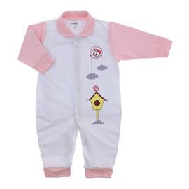Imagem - Macacão de Bebê Menina Lapuko - 9950-macacao-lapuko-estampado-rosa-