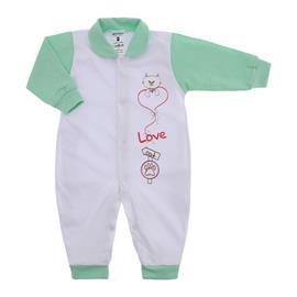 Imagem - Macacão de Bebê Menina Lapuko - 9950-macacao-lapuko-botao-verde
