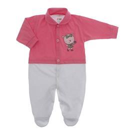Imagem - Macacão de Bebê Menina Lapuko - 10079-macacao-estamp-mna-chiclete