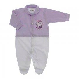 Imagem - Macacão de Bebê Menina Lapuko - 10079-macacao-estamp-mna-lilas