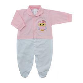 Imagem - Macacão de Bebê Menina Lapuko - 10079-macacao-estamp-mna-rosa-bb