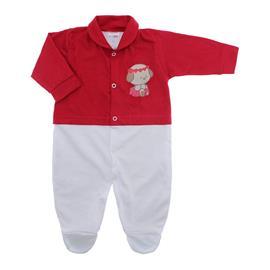 Imagem - Macacão de Bebê Menina Lapuko - 10079-macacao-estamp-mna-vermelho