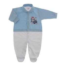 Imagem - Macacão de Bebê Menino Lapuko - 10079-macacao-estamp.mno-azul-bebe