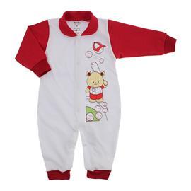 Imagem - Macacão de Bebê Menino Lapuko - 9054-macacao-lapuko-botão-vermelho