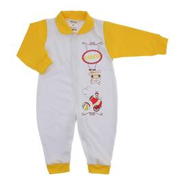 Imagem - Macacão de Bebê Menino Lapuko - 9954-macacao-estamp-bco-amarelo